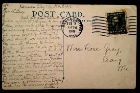 BROWNING Rose GRAY Lula Bathhouse Postcard Back